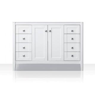 Ancerre Designs Shelton White Wood 48-inch Vanity