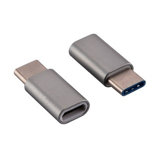 Cmple USB-C Adapter, USB Type C (male) to Micro USB (female) Adapter for Data Syncing and Charging - Space Gray