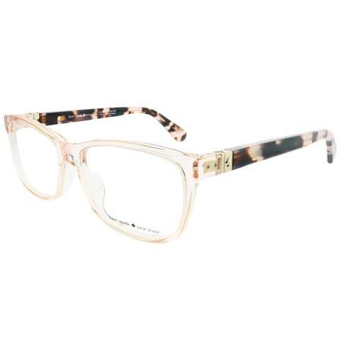 Kate Spade Rectangle KS Calley HT8 Women Pink Havana Frame Eyeglasses