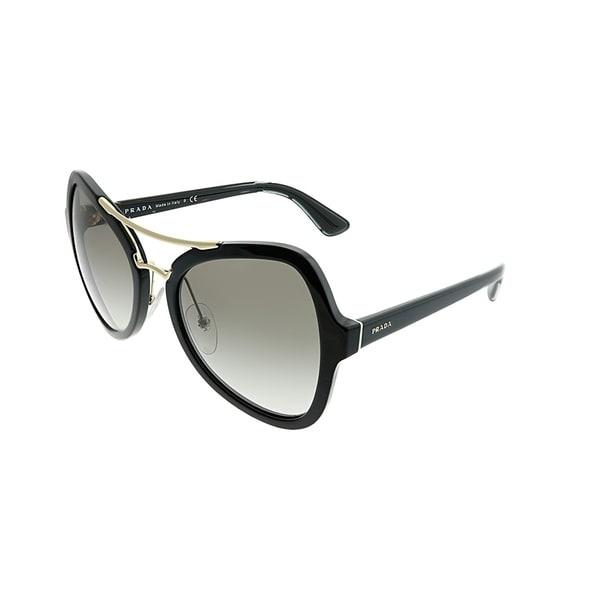 99dc2ac0f1 Prada Butterfly PR 18SS 1AB0A7 Women Black Frame Grey Gradient Lens  Sunglasses. Click to Zoom