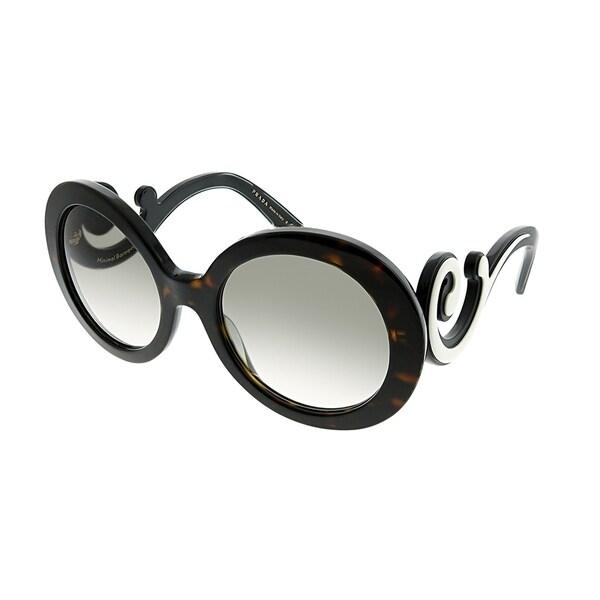 96f22fd6a3203 Prada Round PR 08TS 2AU0A7 Women Havana Frame Grey Gradient Lens Sunglasses