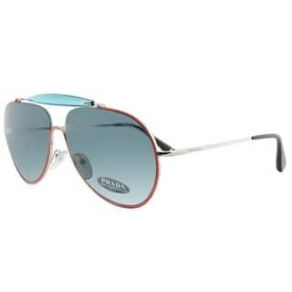 4c9c224732 Prada Aviator PR 56SS UFS2K1 Unisex Orange Blue Silver Frame Blue Lens  Sunglasses