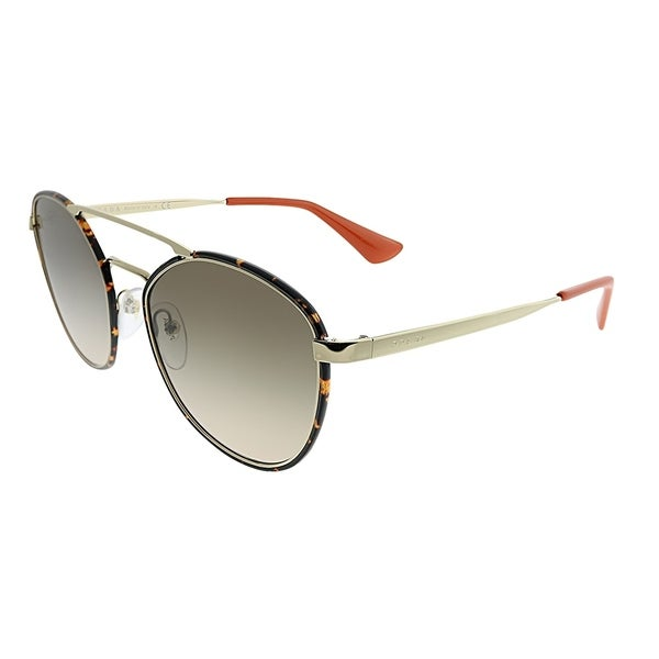1131d27bf0db Prada Square PR 63TS 2AU3D0 Unisex Havana Light Gold Frame Brown Gradient  Lens Sunglasses