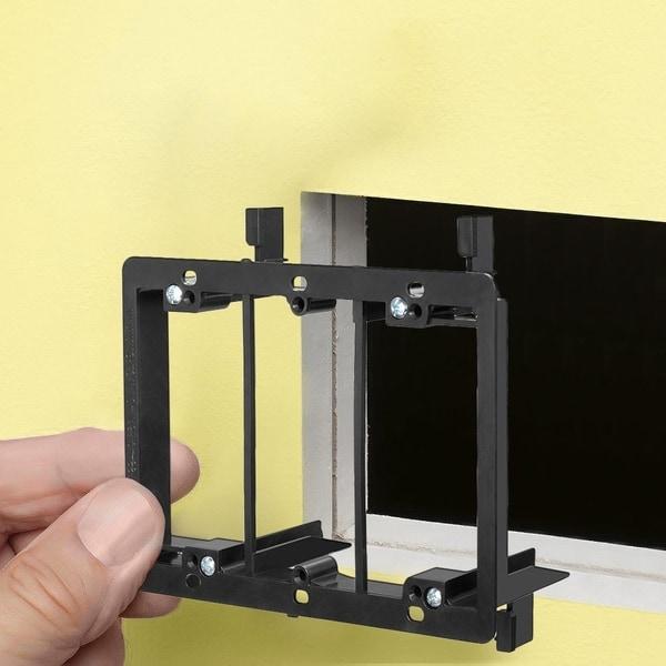50 Pack 1-Gang Steel Drywall Bracket Face Wall Plate Mount Mud Ring Low Voltage