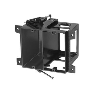 Cmple Arlington LVD2 Power and Low Voltage Box for New Construction - Black