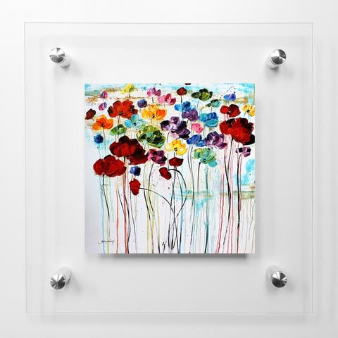 Rainbow Poppies Acrylic Wall Art