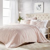 Microsculpt Solid Medallion 3-piece Duvet Set