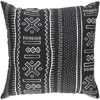 Decorative Alaska Black 18-inch Throw Pillow Cover