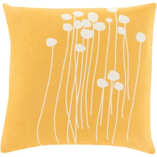 Decorative Gold Carlie Floral 18-inch Throw Pillow Cover