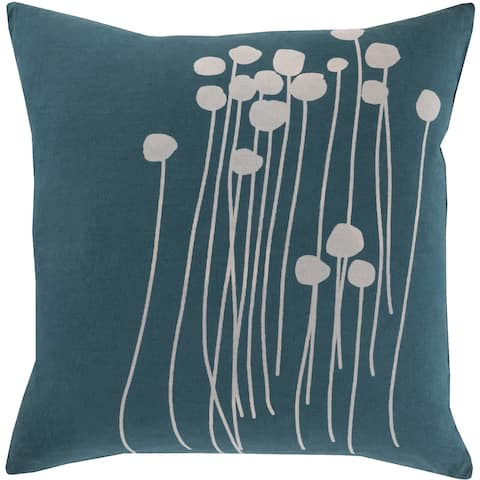 Decorative Navy Carlie Fl 18 Inch Throw Pillow Cover
