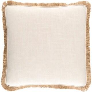 Decorative Daloa Ivory 18-inch Throw Pillow Cover