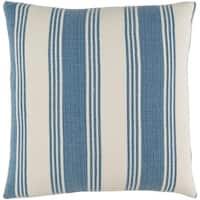 Decorative Cristopher Denim 22-inch Throw Pillow Cover