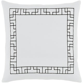 Decorative 18-inch Brook White Feather Down Throw Pillow