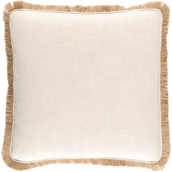 Decorative Daloa Ivory 22-inch Throw Pillow Cover