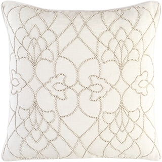 Decorative Feng Cream 18-inch Throw Pillow Cover