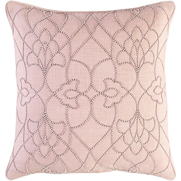 Decorative Feng Mauve 22-inch Throw Pillow Cover