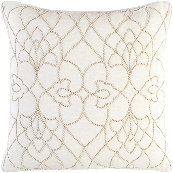 Decorative Feng Cream 20-inch Throw Pillow Cover