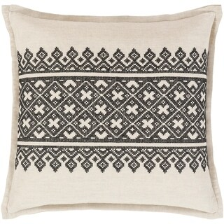 Decorative Even Black 20-inch Throw Pillow Cover