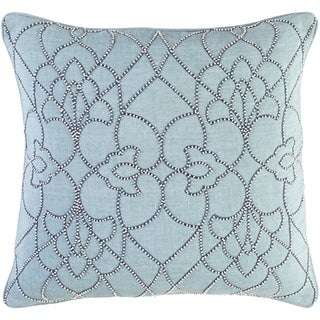 Decorative Feng Aqua 20-inch Throw Pillow Cover