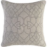 Decorative Feng Grey 20-inch Throw Pillow Cover
