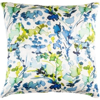 Decorative Frankie Blue 18-inch Throw Pillow Cover