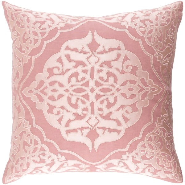 Decorative Fort Collins Rose 22-inch Throw Pillow Cover