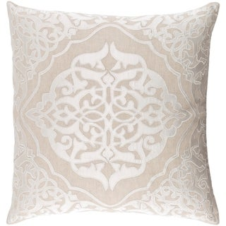 Decorative Fort Collins Khaki 20-inch Throw Pillow Cover