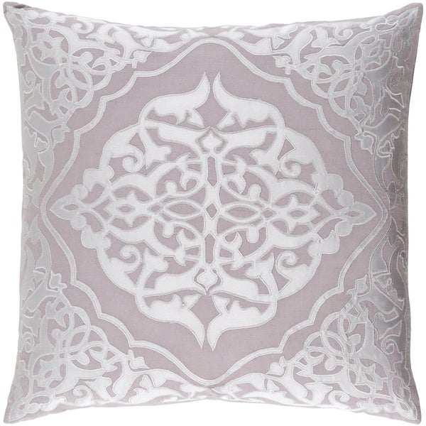 Decorative Fort Collins Grey 22-inch Throw Pillow Cover