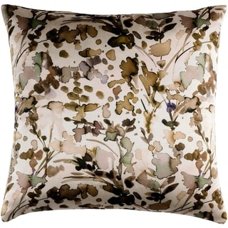 Decorative Frankie Tan 20-inch Throw Pillow Cover