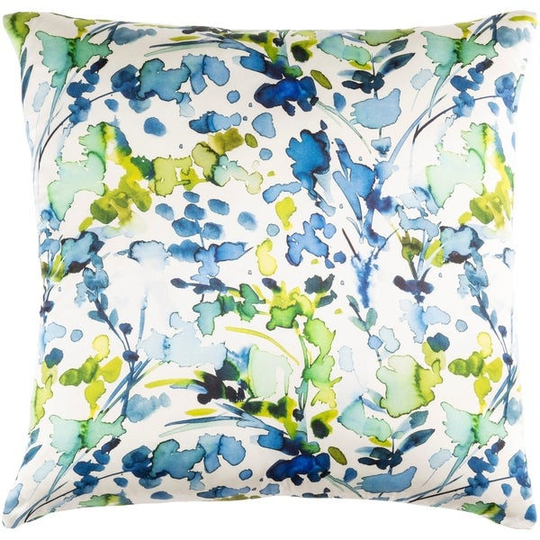 Decorative Frankie Blue 20-inch Throw Pillow Cover
