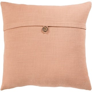 Demetra Traditional Button Tan Feather Down Fill Throw Pillow 20-inch