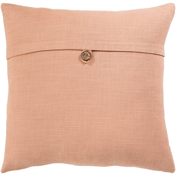 Demetra Traditional Button Tan Throw Pillow Cover 20-inch