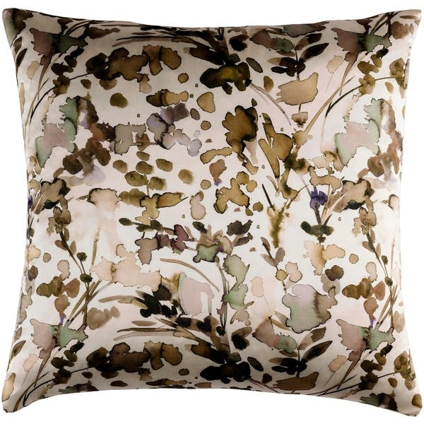 Decorative Frankie Tan 22 Inch Throw Pillow Cover