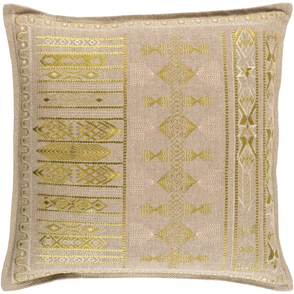 Decorative Fort Worth Lime 20-inch Throw Pillow Cover