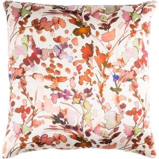 Decorative Frankie Orange 20-inch Throw Pillow Cover