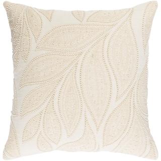 Decorative Leigh Cream 18-inch Throw Pillow Cover