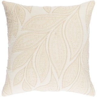 Decorative Leigh Cream 22-inch Throw Pillow Cover