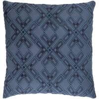 Decorative Lauren Navy 20-inch Throw Pillow Cover
