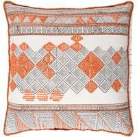 Decorative Gavin Orange 20-inch Throw Pillow Cover