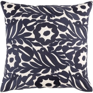 Decorative Lami Navy 20-inch Throw Pillow Cover