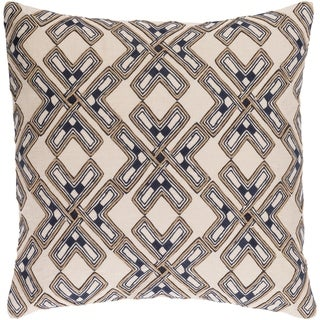 Decorative Lauren Cream 18-inch Throw Pillow Cover