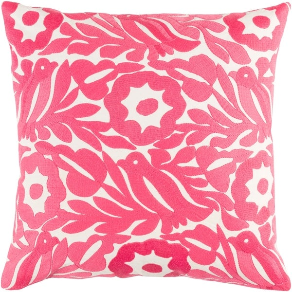 Decorative Lami Pink 18-inch Throw Pillow Cover