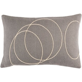Decorative Liana Grey Throw Pillow Cover (13 x 19)