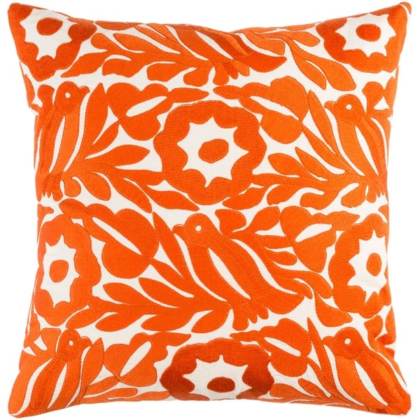Decorative Lami Orange 22-inch Throw Pillow Cover