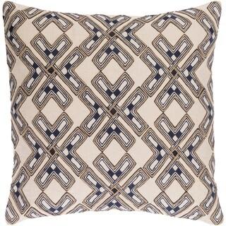 Decorative Lauren Cream 22-inch Throw Pillow Cover