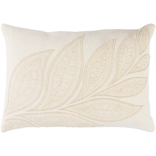 "Decorative Leigh Cream 13"" x 19"" Throw Pillow Cover"