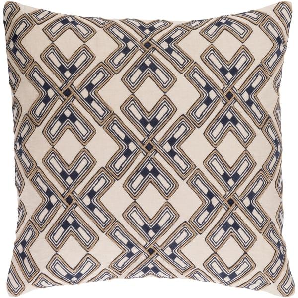 Decorative Lauren Cream 20-inch Throw Pillow Cover