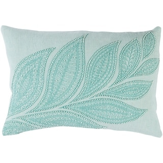 "Decorative Leigh Mint 13"" x 19"" Throw Pillow Cover"