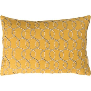 """Decorative Lilith Yellow 13"""" x 19"""" Throw Pillow Cover"""