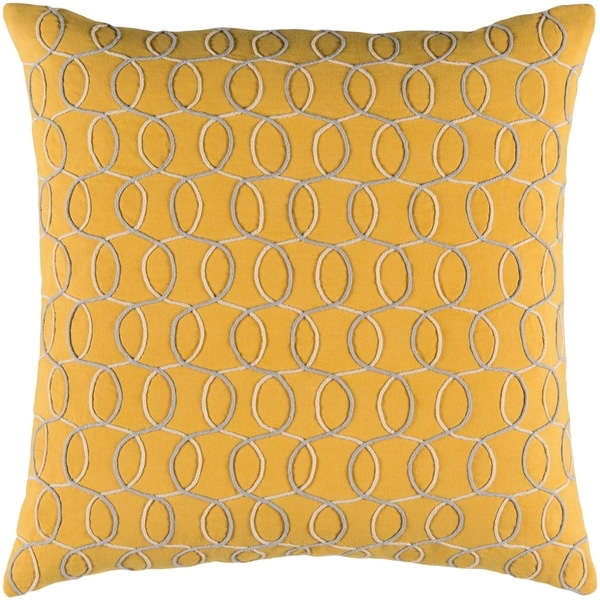 Decorative Lilith Yellow 20-inch Throw Pillow Cover